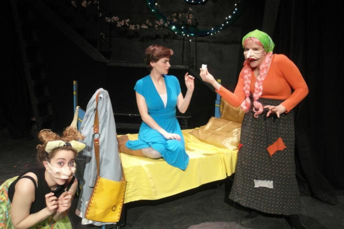 Photo courtesy of the Looking Glass Theatre To save her father and mother, a young daughter makes a promise to live with a beastly bear, whose palace is secretly filled with nasty, bumbling trolls. East of the Sun and West of the Moon, based on a Scandinavian folk tale, is on now at the Looking Glass Theatre.