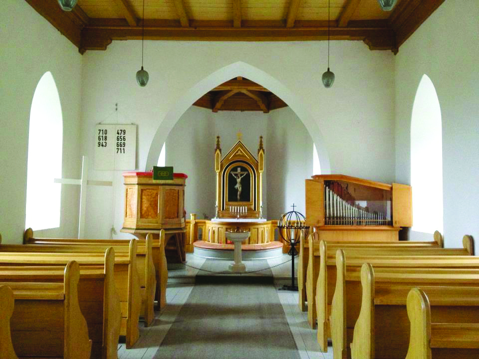 Photo: Matthew T. Barry The chapel interior is simple and light.