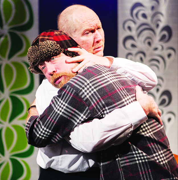 Photo: C. Stanley Photography Kjell Bjarne, played by James Konicek (l), and Elling, played by Bill Largess (r), comfort each other.