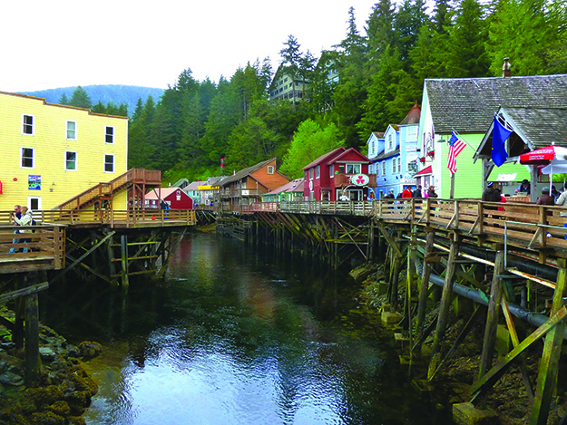 Photo: Darin Lietz The aptly named Creek Street in Ketchikan was once the town's Red Light District.