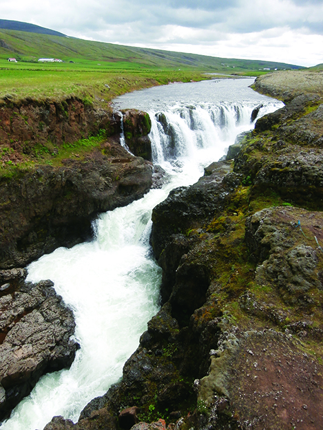 Photo: Shelby Gilje You almost can't walk around in Iceland without tripping over a waterfall.