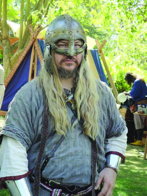 "Photo: Judith Gabriel Vinje Gregg Vaughn (""Grimnir Vainhair"") of the Ravens of Odin"
