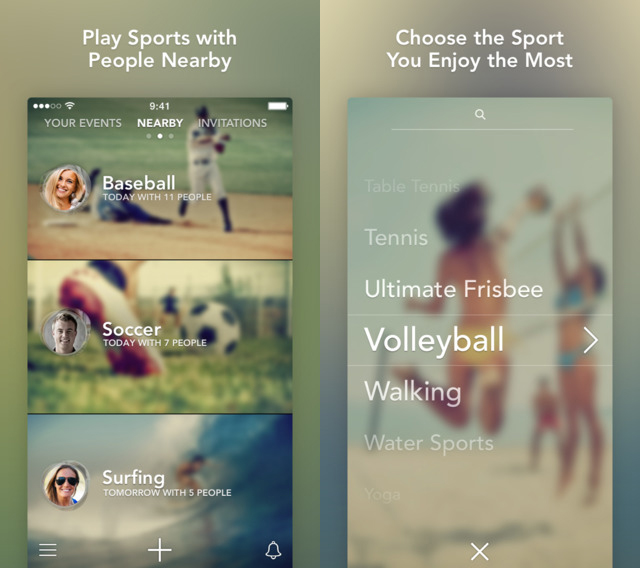 """Photo: iTunes app store Screenshots from the app. """"Sporty"""" is currently only available for iPhone."""