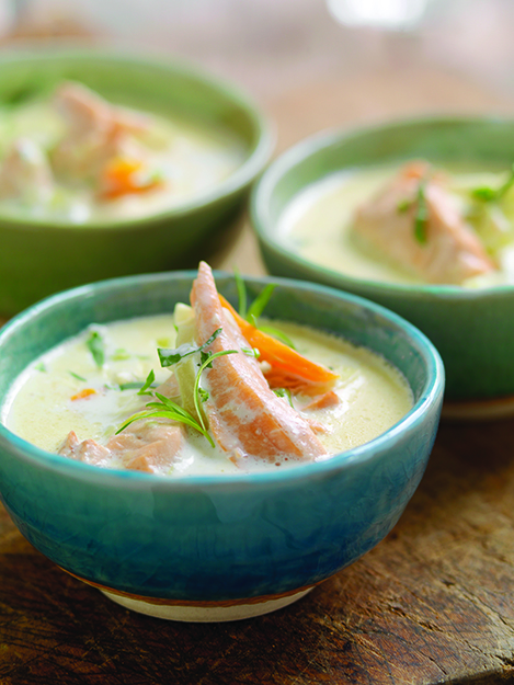 Photo: Studio Dreyer-Hensley AS / Tine Mediebank I confess: my salmon chowder has never looked this pretty. But I don't see why yours couldn't.