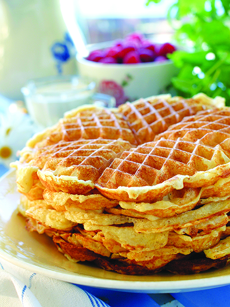 Photo: Tine Mediebank Pumpkin up those waffles! But keep it Norwegian with plenty of lingonberry cream sauce on top.