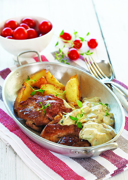 Photo: Tine Mediebank Christin Drake's roasted pork and mushroom sauce will help you find your own Lost Norwegian.