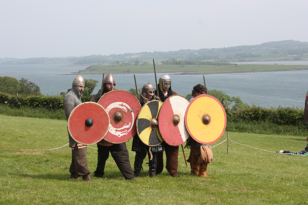 Photo: Ardfern / Wikimedia Commons Viking reenactors at the Magnus Barelegs Viking Festival in Northern Ireland in June 2012. Many Irish cities were Viking Age trading posts.