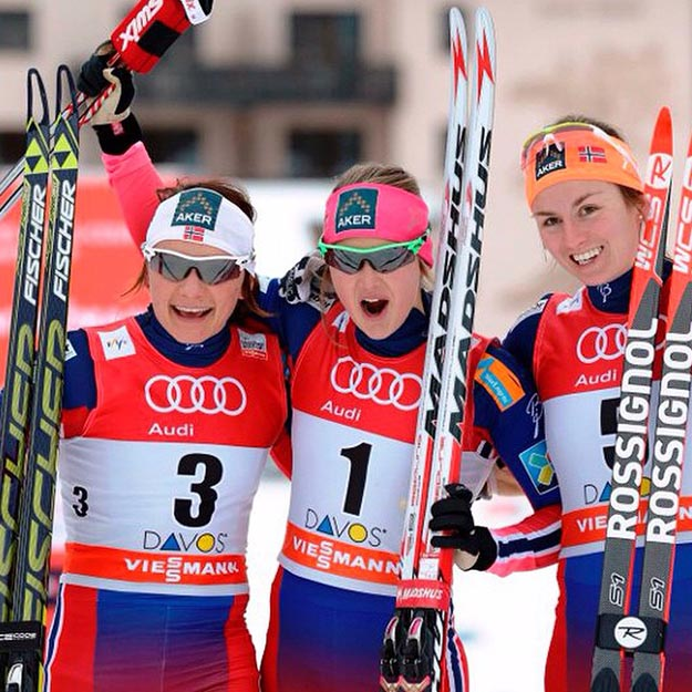Photo: ingvildflugstad / Instagram  Ingvild Flugstad Østberg, center, was a big winner at the World Cup.
