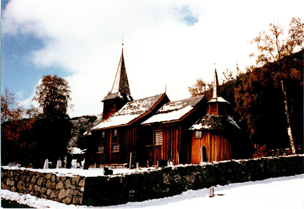 Photo: Donald V. Mehus Hol's snow-decked Gamle Church (Old Church), parts of which are some 800 years old.
