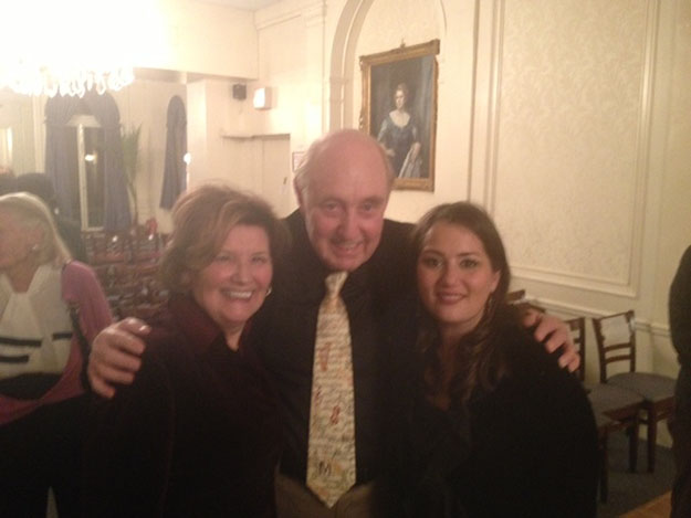Photo courtesy of Berit Brevig Berit and Per Brevig, executive director and president of Edvard Grieg Society, respectively, with Metropolitan Opera mezzo soprano Heather Johnson at the Grieg Concert at the Liederkrantz Club in New York City.