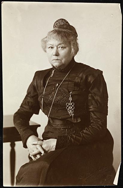Photos: Nasjonalbiblioteket / Flickr Portrait of Harriet Backer, date unknown.