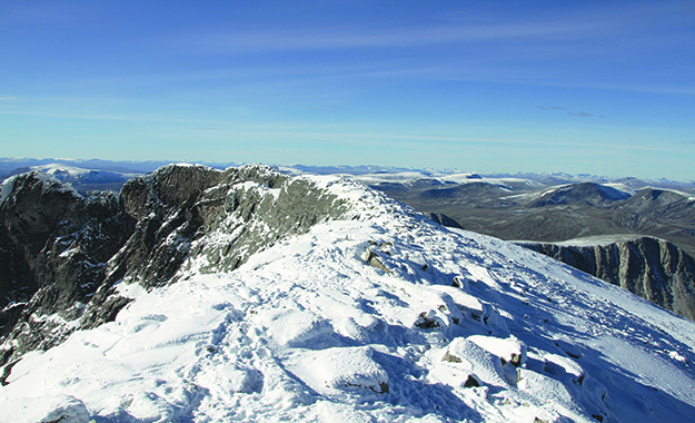 Photo: Bjoertvedt / Wikimedia Commons The view from atop Snøhetta.