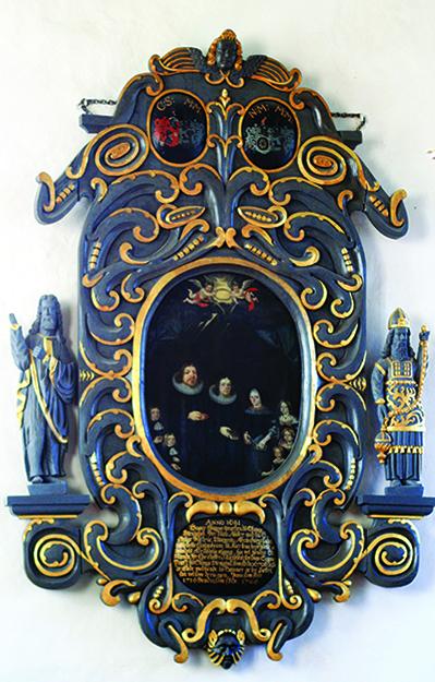 Photo: Wikimedia Commons An epitaph inside Stange Kirke in Stange, Norway.