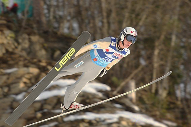 Photo: Tadeusz Mieczyński Anders Fannemel in the FIS Ski-Flying World Championships 2012. He had one of the longest jumps at that competition, but had to settle for third place.