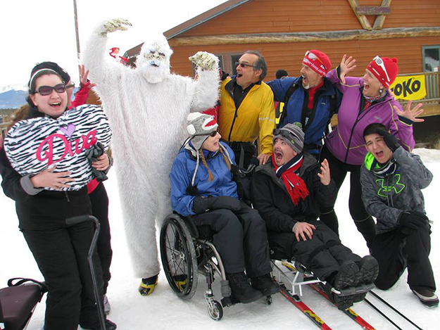 Photo: Ski for Light / Facebook Participants say farewell to 2015's week, while being menaced by a yeti.