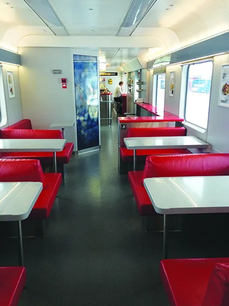 Photo: Mary Lokken The restaurant car.