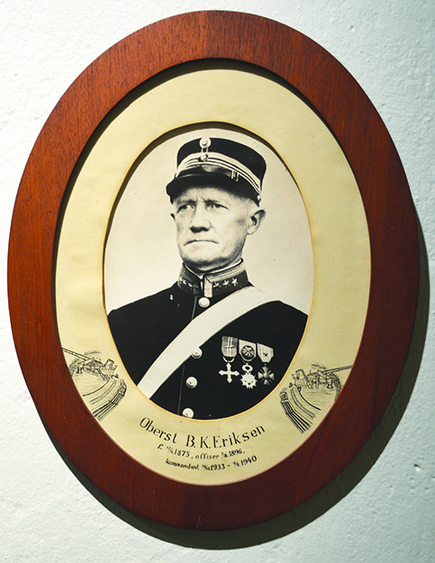 Photo: Bjørn Olsen Colonel Eriksen, whose decision to shoot bought the royal family time to flee the country.