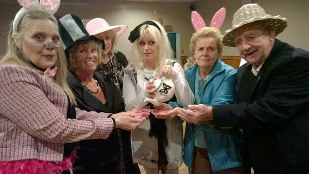 Photo: Julie Bergland Feis Brooklyn Lodge's Mad Hatter-themed meeting was a huge success, with all manner of characters attending.