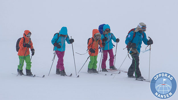 Photo: NRK Super These four are the youngest Norwegians ever to reach the North Pole.