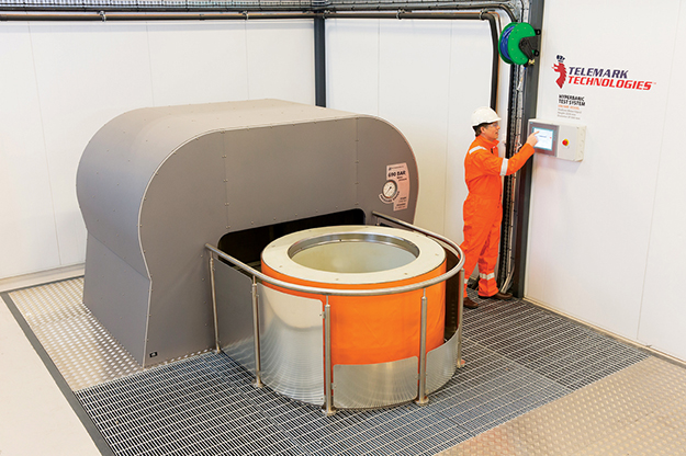 One of the most exciting development by Telemark Technology is its hyperbaric chamber for testing products in deep sea conditons.