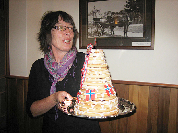 Photo: Kristin Bervig Valentine From Norway to New Zealand, nothing says Syttende Mai like kransekake.
