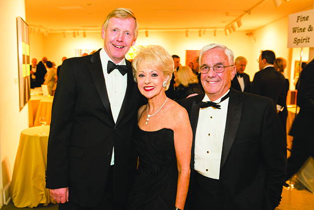 Photo: Yassine El Mansouri / National Museum of Women in the Arts From left to right: Ambassador of Norway Kåre R. Aas, NMWA Board President Emerita and Endowment Chair Carol Lascaris, and Climis Lascaris at the museum's Spring 2015 Gala.