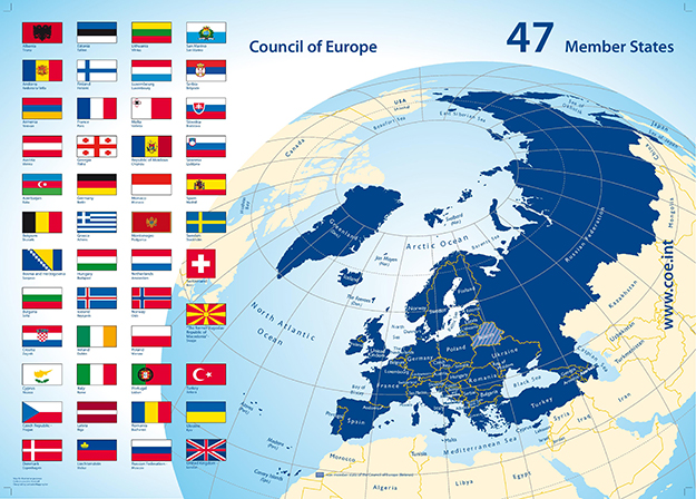 Photo: Wikimedia Commons Map of the Council of Europe.