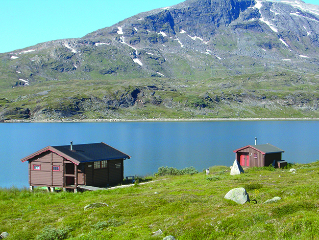Photo: Roger Lauritzen / DNT Sitas Cabin on the E1 near Narvik, Norway. Norway has more than 500 such cabins for hikers to stay in.