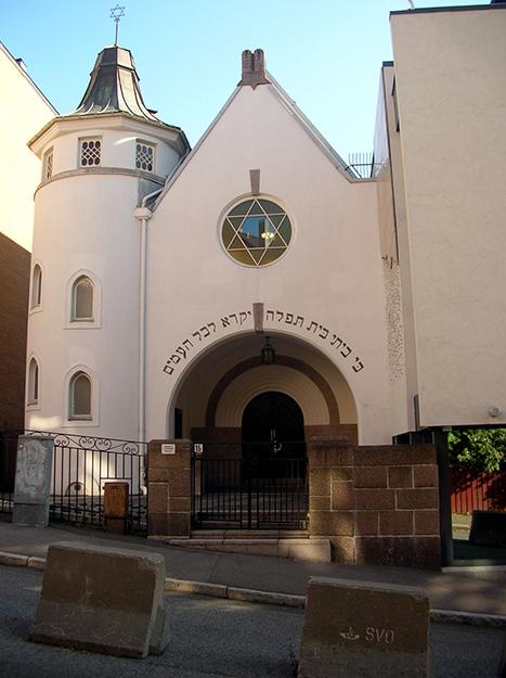 Photo: Grzegorz Wysocki / Wikimedia Synagogue, Oslo.