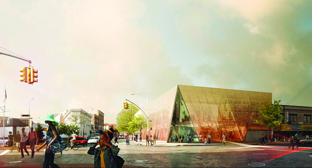 Photo: Snøhetta / Doug and Wolf The Far Rockaway Library, scheduled for completion next year, will replace the library's outgrown building with a fittingly beautiful translucent structure combining private and public space.