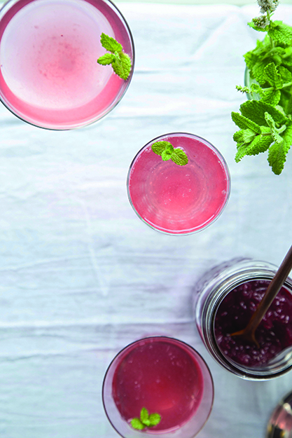 Photo: Maria Stordahl Nelson Lingonberries lend a rosy hue to this festive drink.