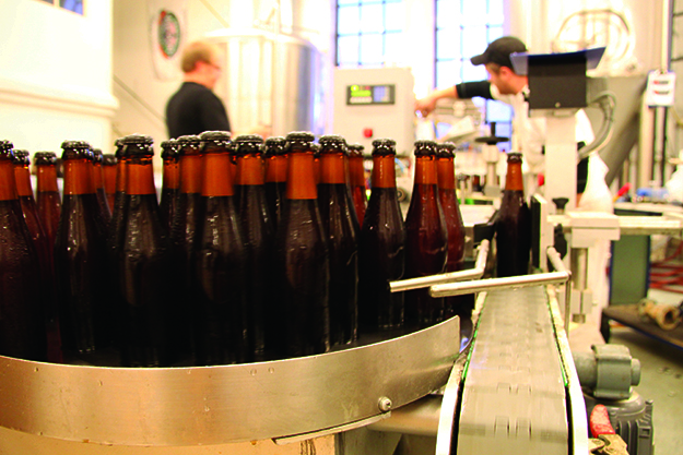 Photo courtesy of Nøgne Ø Beer-bottling at the Nøgne Ø brewery.