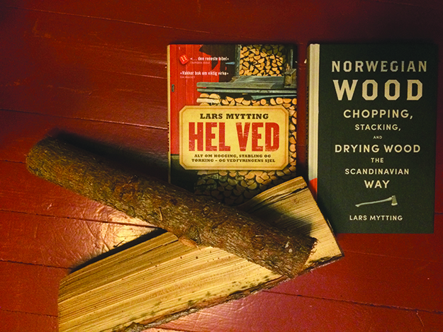 Photo: Heidi Håvan Grosch Hel Ved poses with its English edition and of course its subject matter.