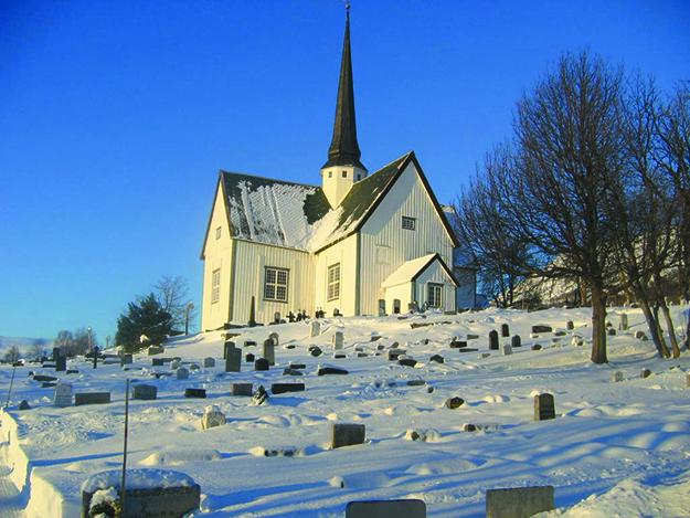 Photo: Danielnorthall / Wikimedia Oppdal Kirke, a typical 17th century church.
