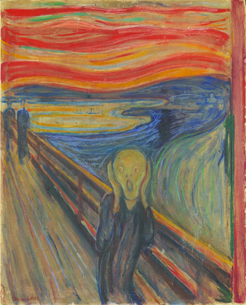 """Photo: The National Gallery collections, Oslo Edvard Munch's painting, """"Scream."""""""