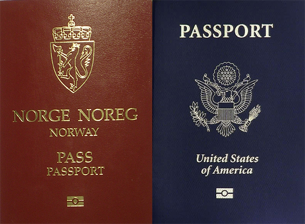 Photos: (left) Christian Leonard Quale / Wikimedia Commons, (right) Wikimedia Commons Soon, perhaps, one will be able to be a citizen of both Norway and the United States.