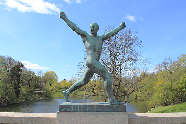Photo: Pixabay This statue in Frogner Park, Oslo, seems proud to live in the number one city.