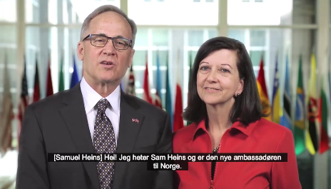 Photo: US Embassy Oslo / Facebook The U.S. Embassy in Oslo released a video of introduction on Facebook on March 4.