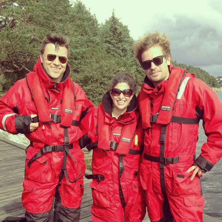 Photo courtesy of Lisa G. Black Lisa G. Black (center, with Øyvind Hollo-Klausen and Sigmund Elias Holm in Norway in 2010) has worked on several international film projects.