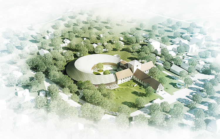 "Photo: AART Architects / Statsbygg / NRK ""Naust,"" the design for the new Viking Age Museum, will incorporate the existing Viking Ship Museum."
