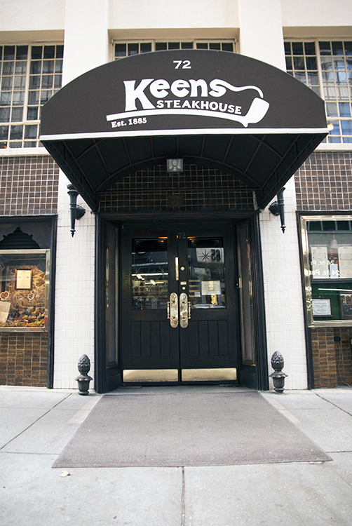 Photo courtesy of Keens Steakhouse Keens Steakhouse front entrance.