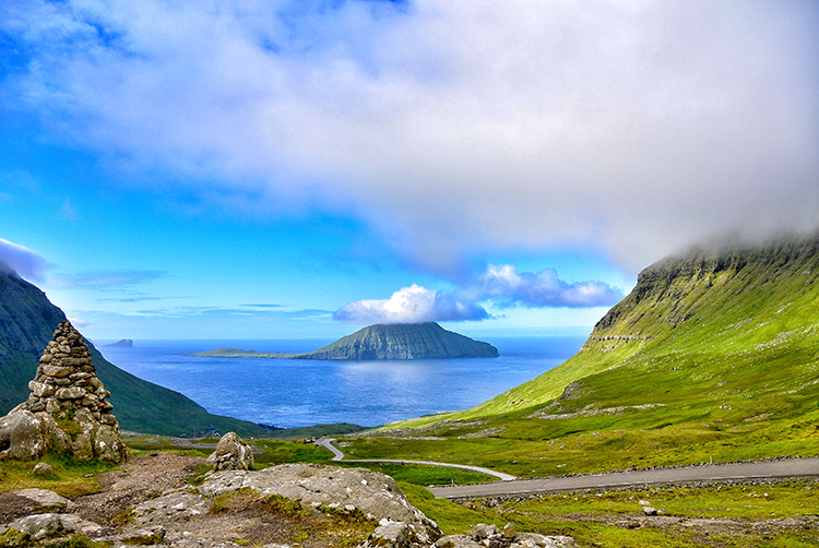 Photo: Elisabeth Beyer The Faroe Islands reminded Beyer of a sub-Arctic Kauai, and looking at the volcanic mountains, lush green hillsides, and blue waters, the connection seems clear.