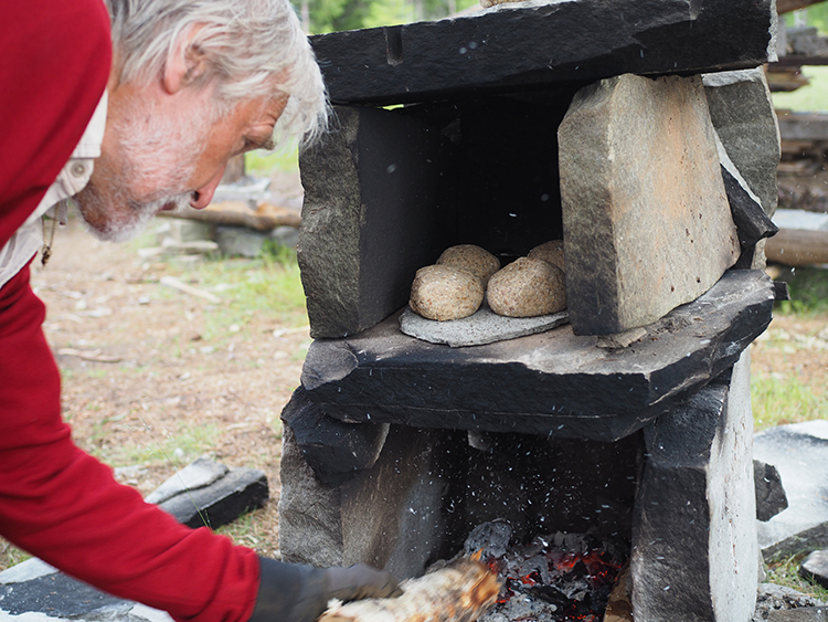 Photo: Nevada Berg The primitive stone oven is a good reminder of what life was like before modern kitchens.