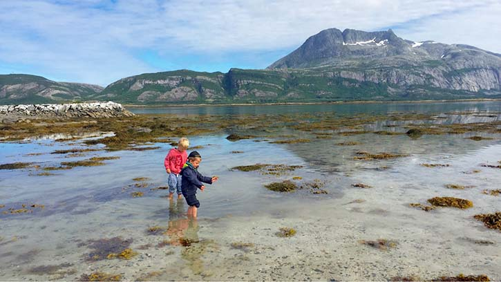 Photo: John Barry Helgeland offers mountains and beaches for exploration (at Offersøy near Tjøtta).