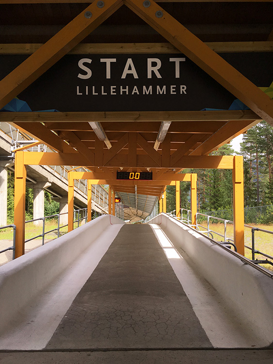 Photo: Emily C. Skaftun Ready for adventure? The luge track just outside of Lillehammer is available for high-speed rides all year long.
