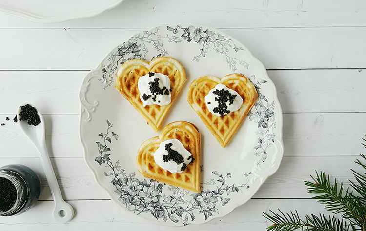 Photo: Maria Stordahl Nelson These savory waffles pair well with Nordic toppings from lingonberry jam to roe.
