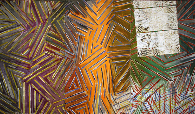 a painting by Jasper Johns from New York's MoMa