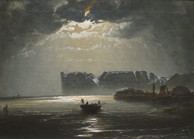 """The North Cape by Moonlight"" (1848) by Balke"