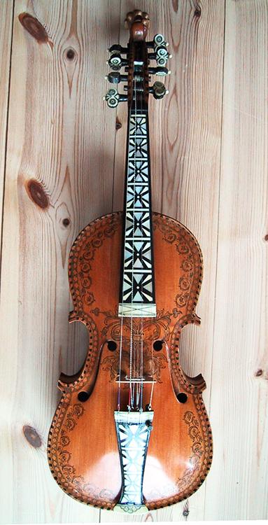 A Hardingfele (Hardanger fiddle)