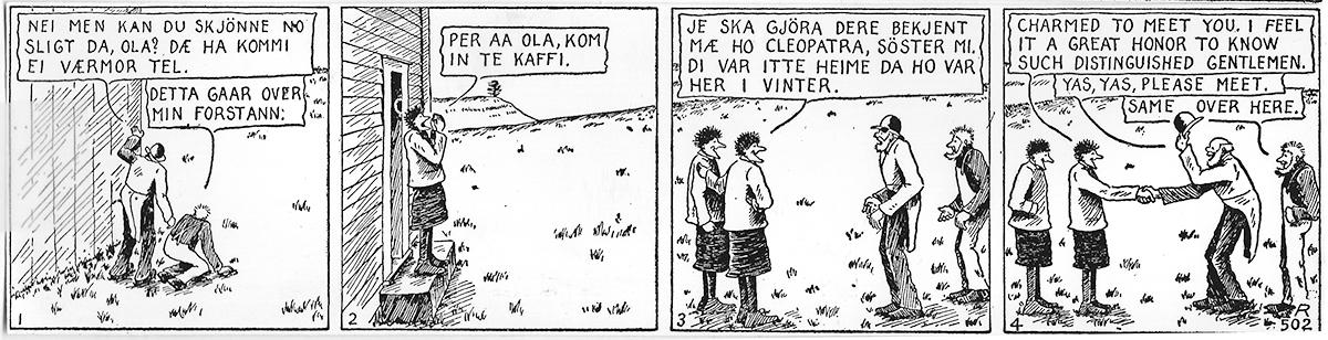Han Ola og Han Per comic.